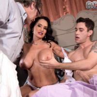 Busty mature pornstar Rita Daniels tit fucking and riding on top of big cock