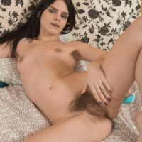European amateur Gerda May revealing hairy underarms and spread beaver