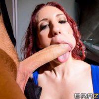 Redhead MILF pornstar Kelly Divine butt fucked by massive cock in black stockings