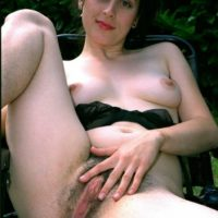 European brunette amateurs display hairy underarms and beavers in the backyard