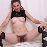 European amateurs show off their hairy pussies and furry armpits
