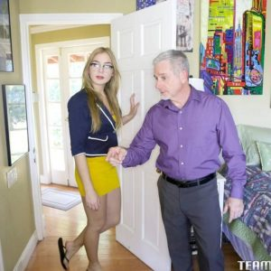 Blonde teen Blair Williams toys her pussy when she's not fucking her stepfather