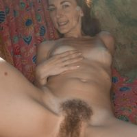Skinny amateur Scarlett Nika slipping off panties outdoors for hairy pussy spreading