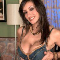 European MILF pornstar Persia Monir having big boob released during foreplay