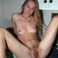 A variety of amateur solo girls displaying their all natural hairy pussies in the nude