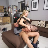 Busty blonde Vittoria Risi taking anal penetration from big cock after anal toying