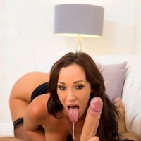 MILF pornstar Jada Stevens getting ass fucked by large dick after giving blowjob