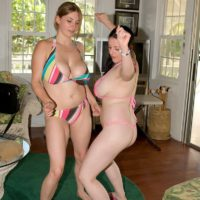 Wet brunette MILF Angela White modeling naked indoors and outdoors with gfs