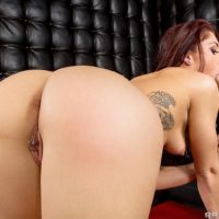 Brunette MILF Mischa Brooks receiving anal sex from huge cock after giving blowjob