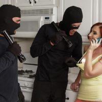 Redhead MILF pornstar Sophia Locke getting as fucked during MMF threesome