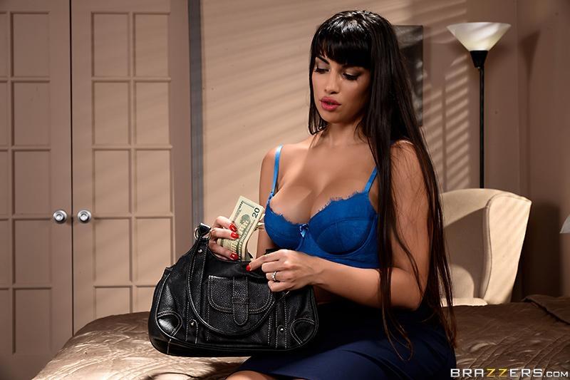 Latina MILF pornstar Mercedes Carrera fucks a younger guy for money