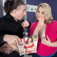 Obese female Porsche Dali spills her huge boobs as she's stripped naked