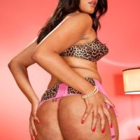 Solo model Blu Diamond shows off her big booty in nylons and garters