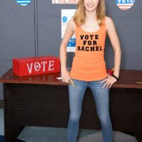 18 year old teen Rachel James flashes her schoolteacher her tiny tits in denim jeans