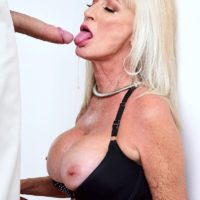 Hot granny Leah L'Amour sucks and fucks a big cock while her husband sleeps