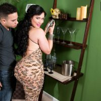 Clothed Latina chick Carmen De Luz twerks her big booty while seducing a man friend