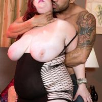 redhead BBW Trinety Guess twerks her butt in a revealing dress while seducing a guy