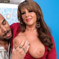 Beautiful granny Cassidy has her nice tits and ass exposed by her younger black lover