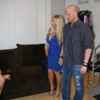 Big boobed blonde Kayla Kleevage and MILF pornstar Karen Fisher team upin a 3some