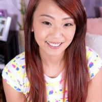 Young Japanese amateur Layla Mynxxx looses her puny breasts before giving a blowjob
