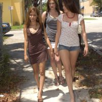 Vianey Cruz gets picked up by bisexual chicks on their way to having group sex